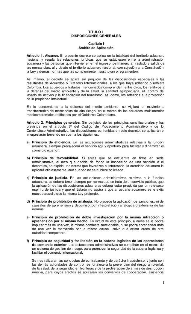 TITULO I                             DISPOSICIONES GENERALES                                       Capítulo I             ...