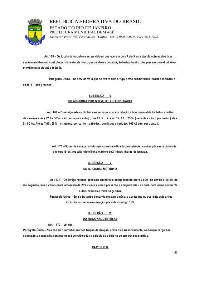 lei 1054 91 estatuto do servidor33 repÚblica federativa do brasil