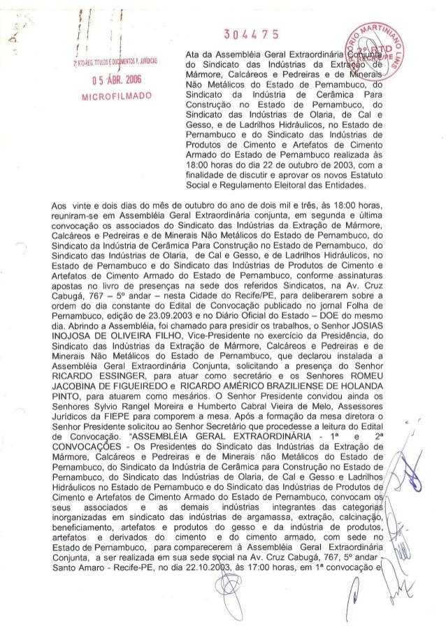 Estatuto SINDUSGESSO