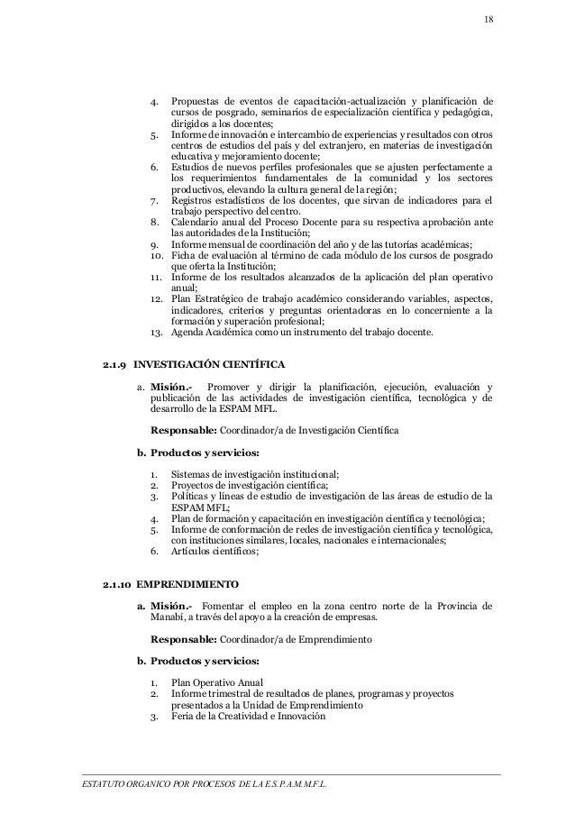18  4. Propuestas de eventos de capacitación-actualización y planificación de  cursos de posgrado, seminarios de especiali...