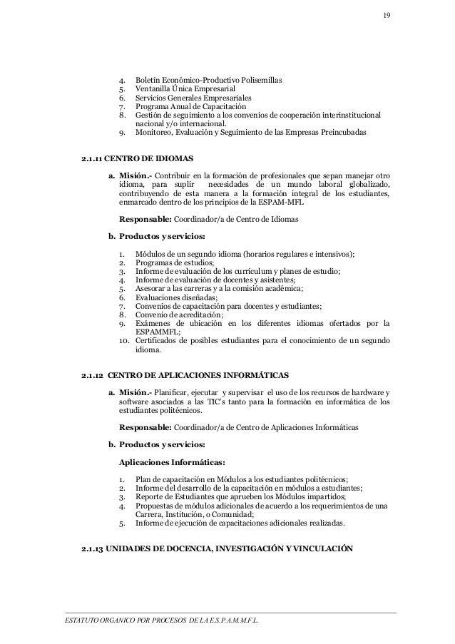 19  4. Boletín Económico-Productivo Polisemillas  5. Ventanilla Única Empresarial  6. Servicios Generales Empresariales  7...