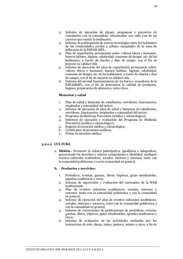 26  2. Informe de ejecución de planes, programas y proyectos de  vinculación con la comunidad, relacionados con cada una d...