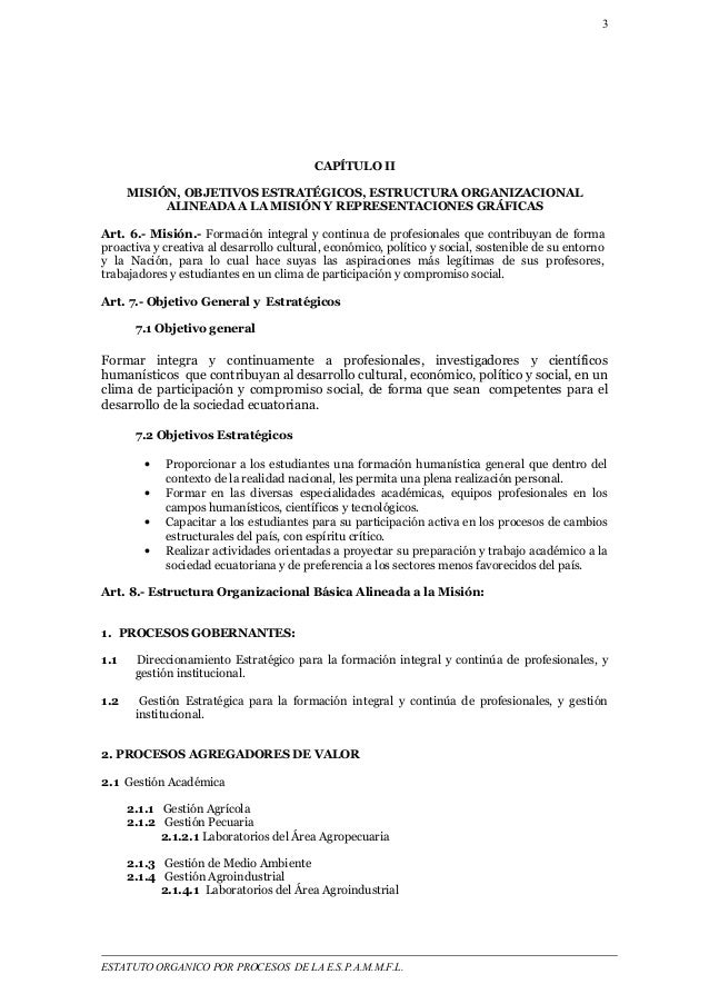 3  CAPÍTULO II  MISIÓN, OBJETIVOS ESTRATÉGICOS, ESTRUCTURA ORGANIZACIONAL  ALINEADA A LA MISIÓN Y REPRESENTACIONES GRÁFICA...