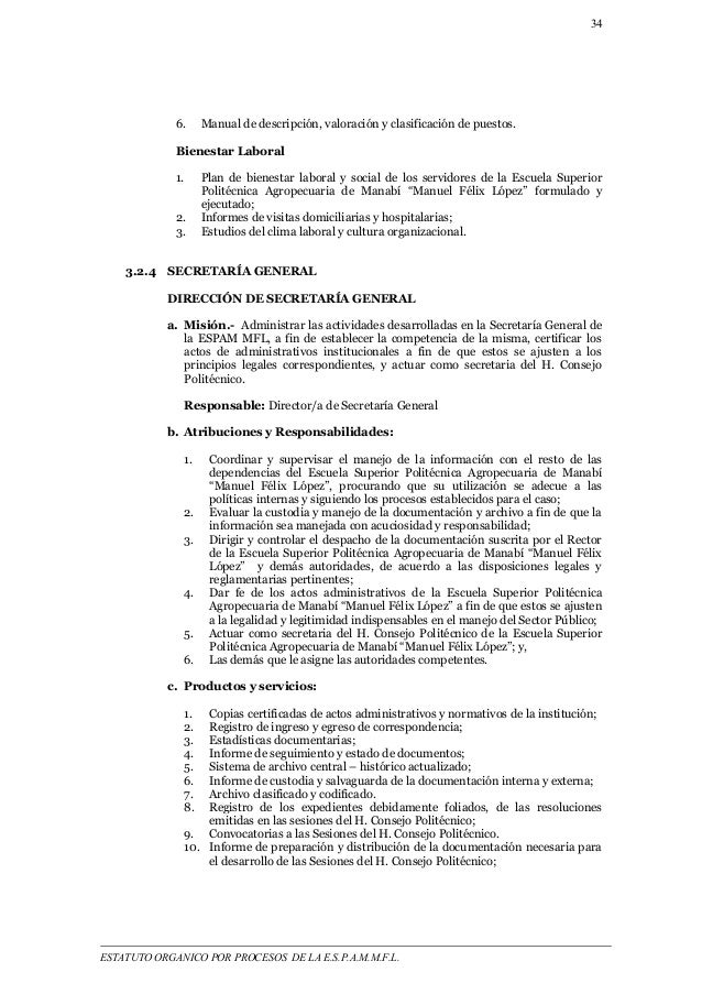 34  6. Manual de descripción, valoración y clasificación de puestos.  Bienestar Laboral  1. Plan de bienestar laboral y so...