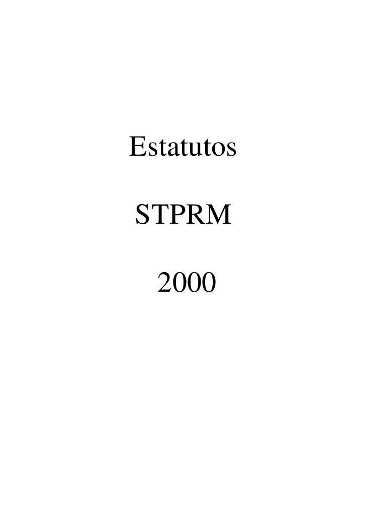 Estatutos  STPRM    2000