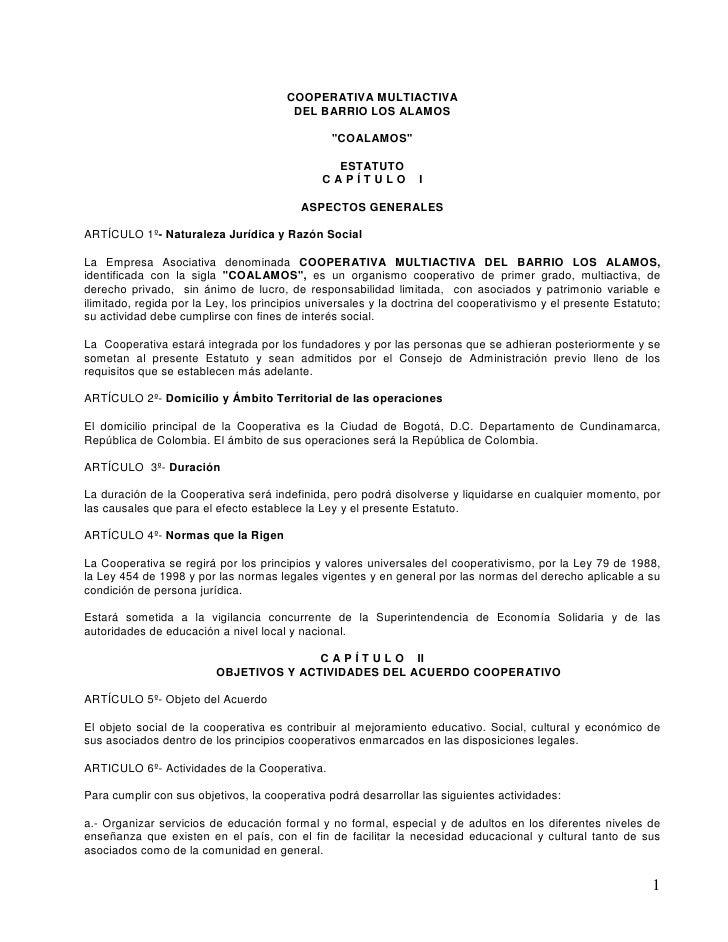 COOPERATIVA MULTIACTIVA                                         DEL BARRIO LOS ALAMOS                                     ...