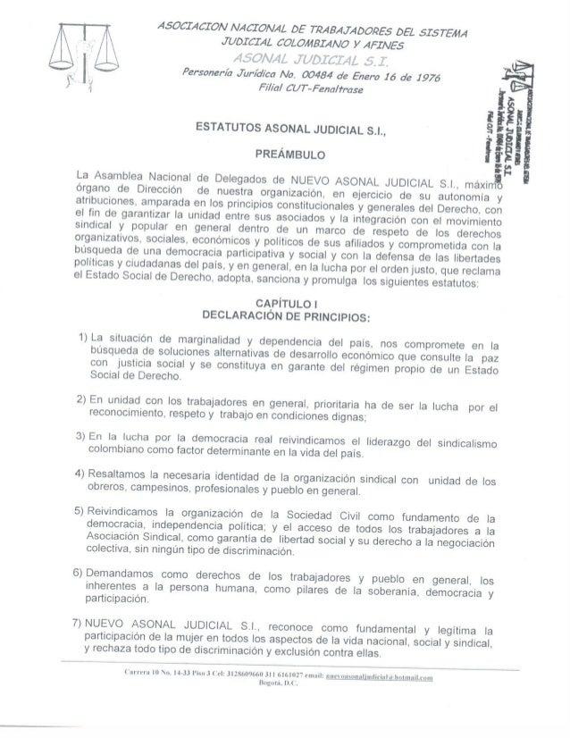 Estatutos Asonal Judicial SI