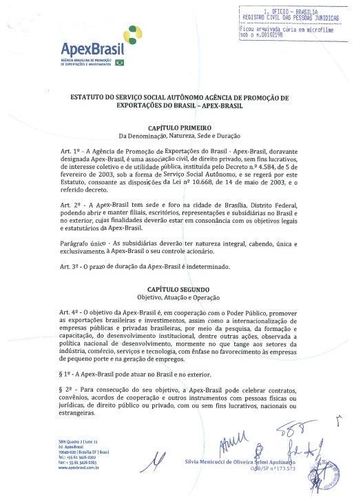 Estatuto Apex-Brasil