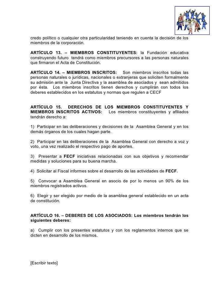 Acta Administrativa Para Imprimir | acta administrativa, estatutos y acta de constitucion para ...