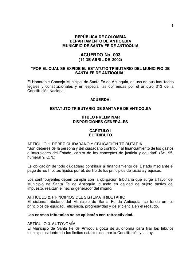 1                         REPÚBLICA DE COLOMBIA                      DEPARTAMENTO DE ANTIOQUIA                    MUNICIPI...