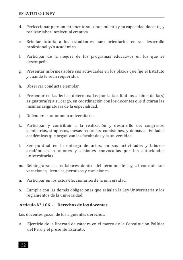Estatuto unfv 2015