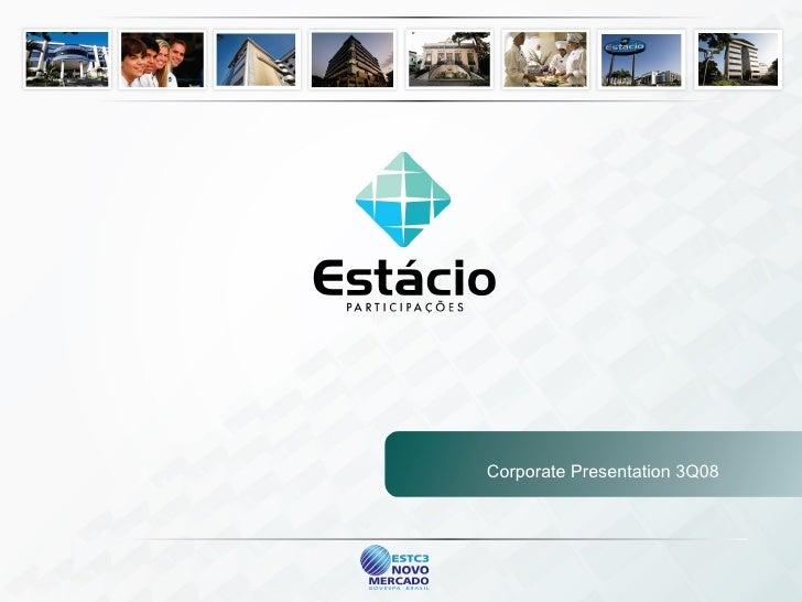 Corporate Presentation 3Q08