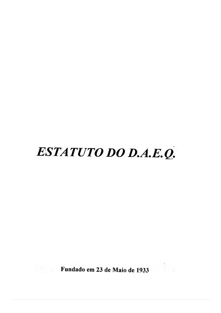 Estatuto do DAEQ - UFRJ