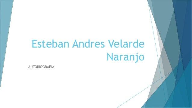 Esteban Andres Velarde Naranjo AUTOBIOGRAFIA