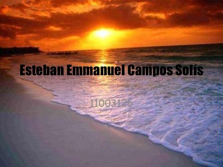 Esteban Emmanuel Campos Solís 11003125