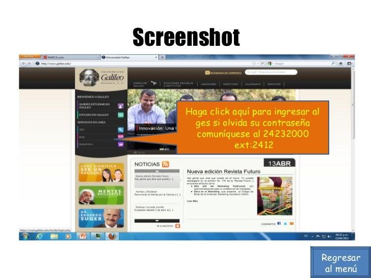 Screenshot Haga click aquí para ingresar al ges si olvida su contraseña comuníquese al 24232000 ext:2412 Regresar al menú