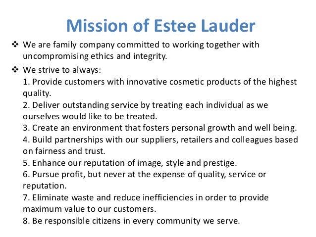 Estee lauder mission statement