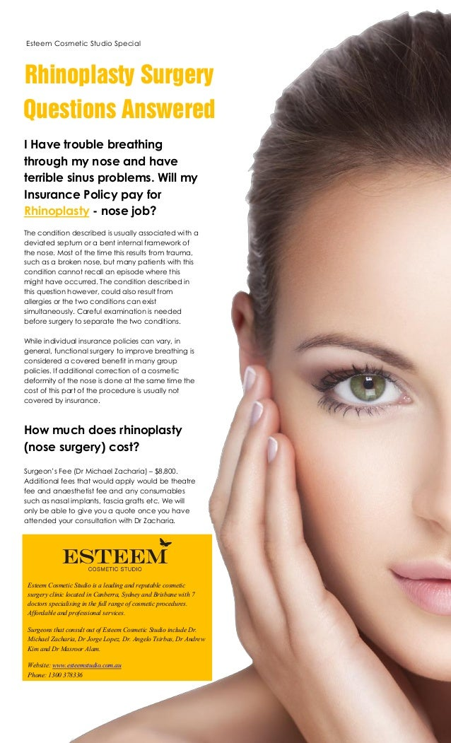 Esteem Cosmetic Studio Brisbane - Rhinoplasty Questions
