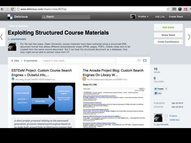 Exploiting Structured Course Materials