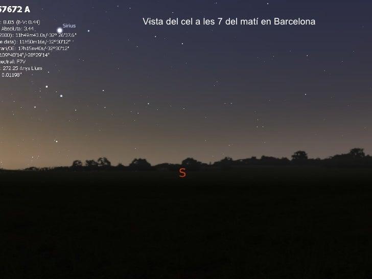 Vista del cel a les 7 del matí en Barcelona