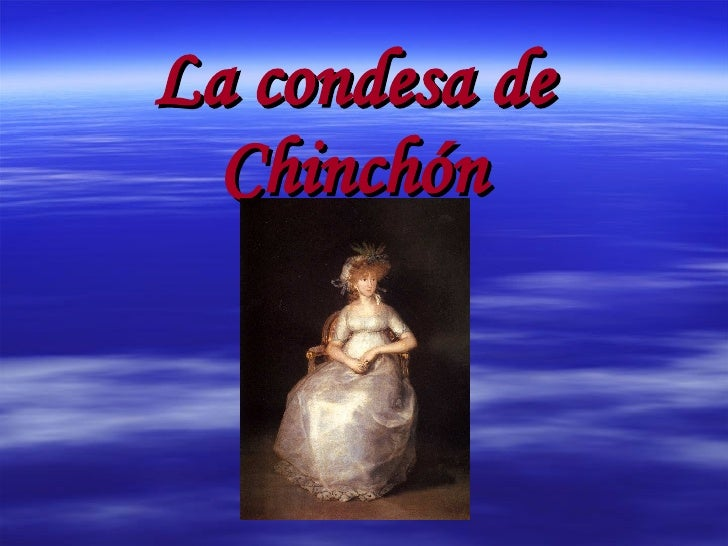 La condesa de Chinchón