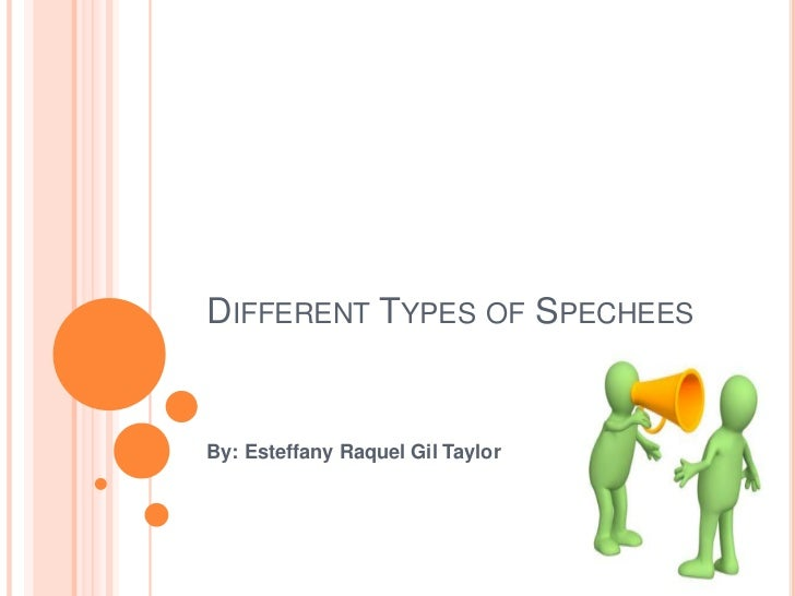 DIFFERENT TYPES OF SPECHEESBy: Esteffany Raquel Gil Taylor