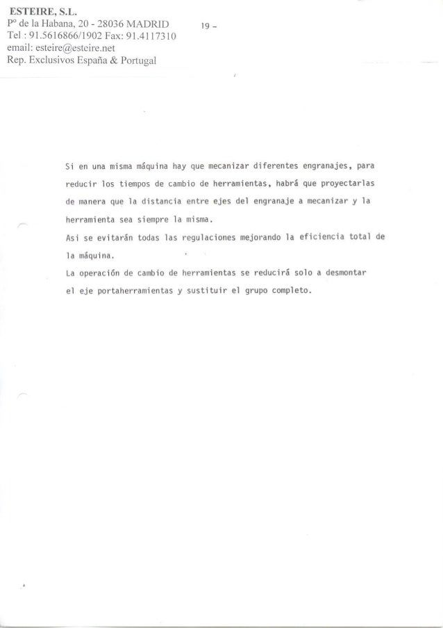 ESTEIRE, S.L. -  Achaflanado y rebarbado en engranajes