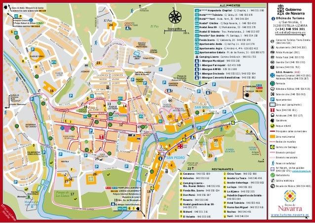 87 v estella lizarra mapa ciudad y comarca v for Oficina turismo tudela