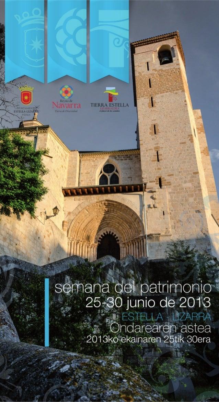 16  1ª Semana del Patrimonio de la Ciudad Medieval de Estella Lizarra La Ciudad Medieval de Estella Lizarra en Navarra Nat...