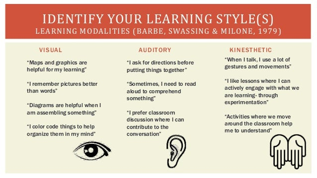 learning styles and modalities Tips for educators on accommodating different learning styles we all have a way in which we best learn odds are, every student in your class has a different preferred learning style, which can make it difficult for you to be the most effective teacher.