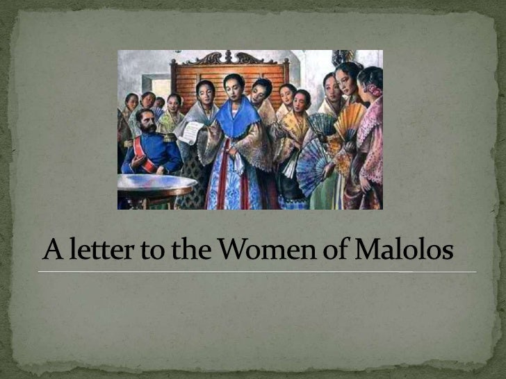 "to the women of malolos Jose rizal's legacy to filipino women is embodied in his famous essay entitled, ""to the young women of malolos,"" where he addresses all kinds of."