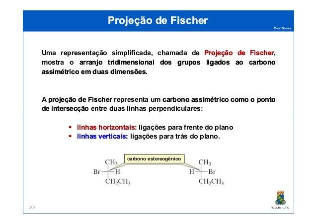 Prof. Nunes Projeção de FischerProjeção de Fischer Uma representação simplificada, chamada de ProjeçãoProjeção dede Fische...