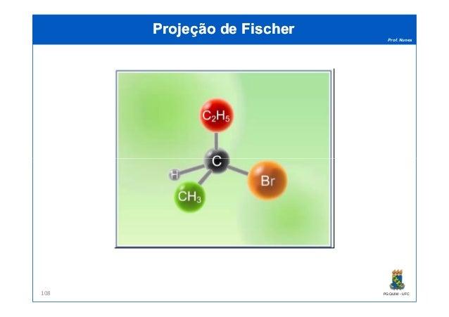 Prof. Nunes Projeção de FischerProjeção de Fischer PGQUIM - UFC108