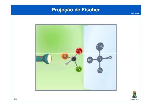Prof. Nunes Projeção de FischerProjeção de Fischer PGQUIM - UFC109