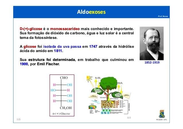Prof. Nunes DD--(+)(+)--glicoseglicose é o monossacarídeomonossacarídeo mais conhecido e importante. Sua formação de dióxi...