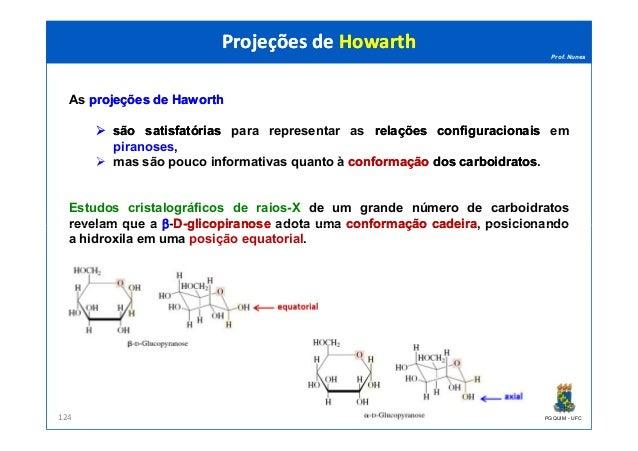 Prof. Nunes As projeçõesprojeções dede HaworthHaworth sãosão satisfatóriassatisfatórias para representar as relaçõesrelaçõ...