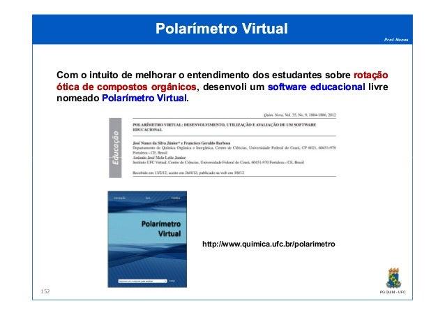 Prof. Nunes Polarímetro VirtualPolarímetro Virtual Com o intuito de melhorar o entendimento dos estudantes sobre rotaçãoro...