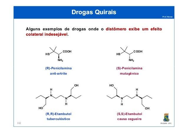 Prof. Nunes DrogasDrogas QuiraisQuirais Alguns exemplos de drogas onde o distômerodistômero exibeexibe umum efeitoefeito c...