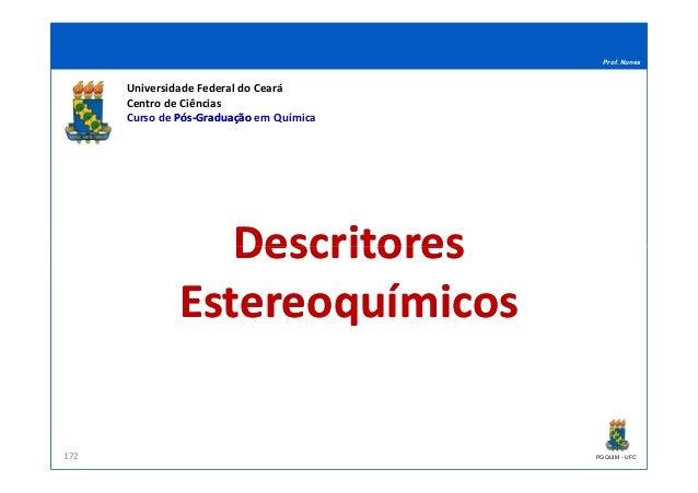 Prof. Nunes DescritoresDescritores Universidade Federal do Ceará Centro de Ciências Curso de PósPós--GraduaçãoGraduação em...