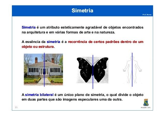 Prof. Nunes SimetriaSimetria SimetriaSimetria é um atributo esteticamente agradável de objetos encontrados na arquitetura ...