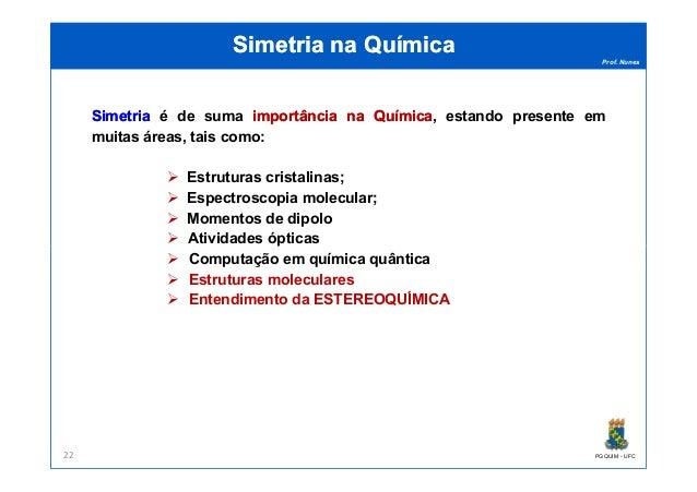 Prof. Nunes Simetria na QuímicaSimetria na Química SimetriaSimetria é de suma importânciaimportância nana QuímicaQuímica, ...