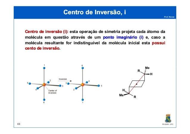 Prof. Nunes Centro de Inversão, iCentro de Inversão, i CentroCentro dede inversãoinversão ((ii)):: esta operação de simetr...