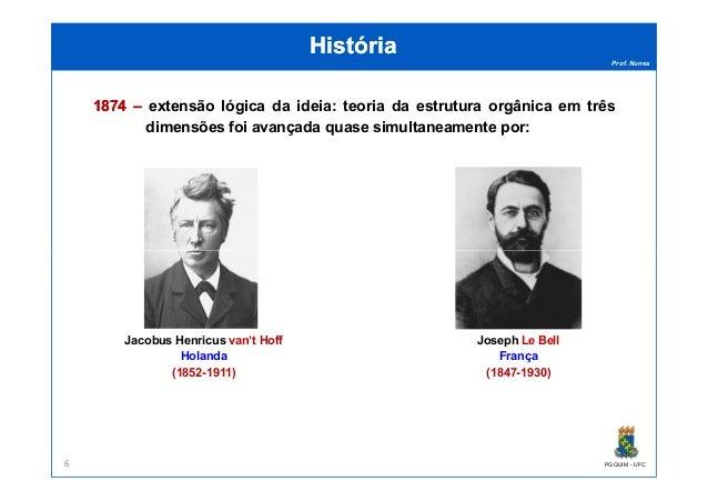 Prof. Nunes HistóriaHistória 18741874 –– extensão lógica da ideia: teoria da estrutura orgânica em três dimensões foi avan...