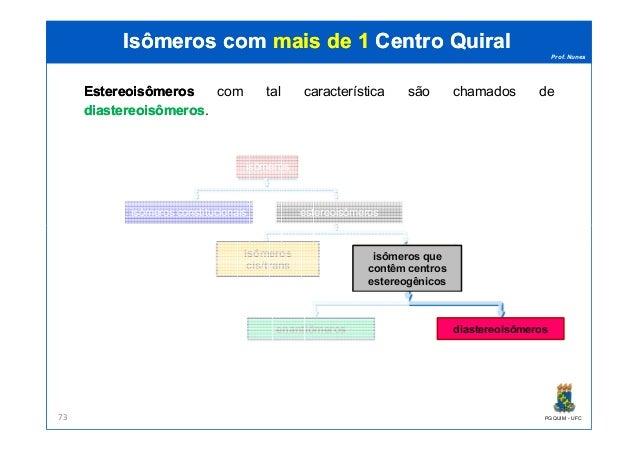 Prof. Nunes Isômeros comIsômeros com mais de 1mais de 1 CentroCentro QuiralQuiral EstereoisômerosEstereoisômeros com tal c...