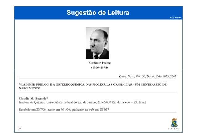 Prof. Nunes Sugestão de LeituraSugestão de Leitura PGQUIM - UFC79