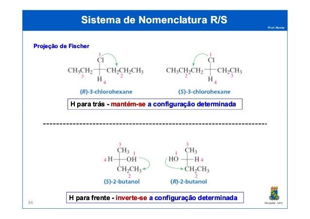 Prof. Nunes Sistema de Nomenclatura R/SSistema de Nomenclatura R/S H para trásH para trás -- mantémmantém--sese a configur...