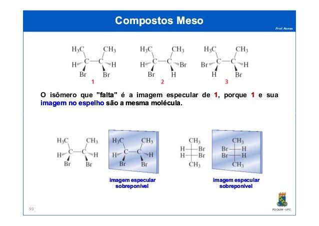 """Prof. Nunes Compostos MesoCompostos Meso O isômero que """"faltafalta"""" é a imagem especular de 11, porque 11 e sua imagemimag..."""
