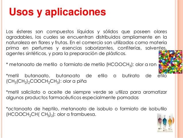Esteres presentacion 1 - Usos del alcohol ...