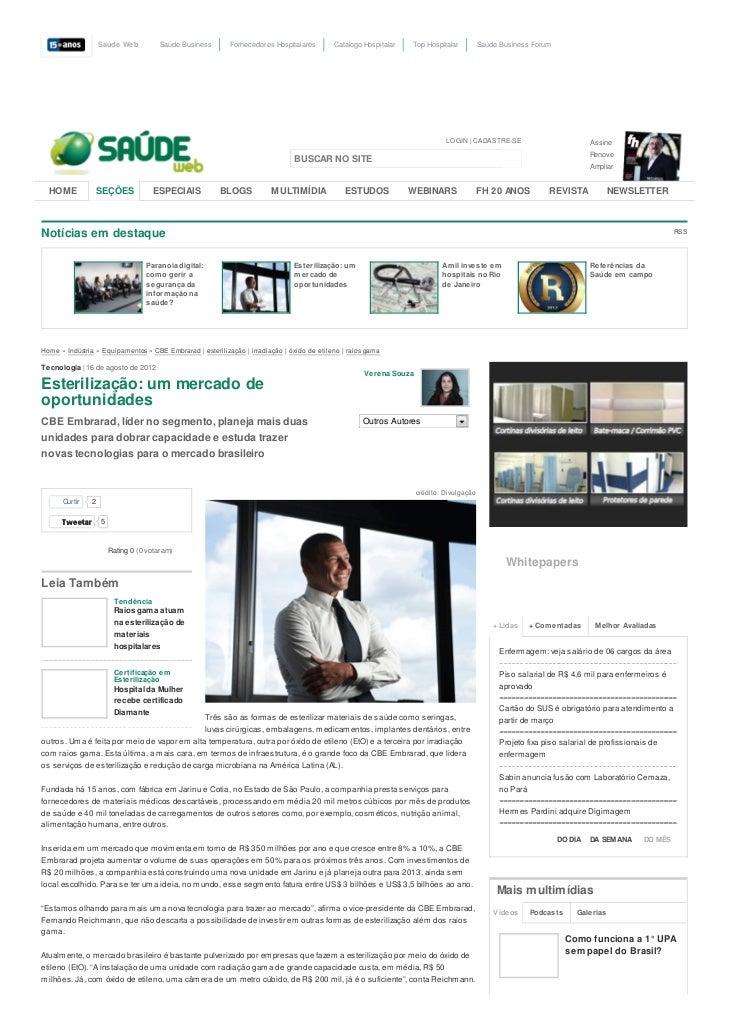 Saúde Web          Saúde Business      Fornecedores Hospitalares        Catálogo Hospitalar   Top Hospitalar          Saúd...
