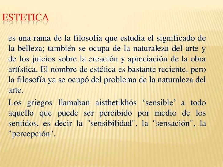 Estetica 1 for Que es arquitectura definicion